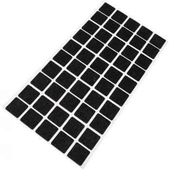 50 x Filzgleiter | 20x20 mm | Schwarz | rund | 1.5 mm dünne selbstklebende Filz-Möbelgleiter in Top-Qualität