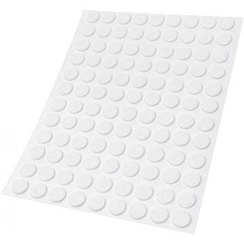 108 x Filzgleiter | Ø 10 mm | Weiß | rund | 1.5 mm dünne selbstklebende Filz-Möbelgleiter in Top-Qualität