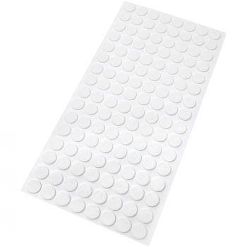 128 x Filzgleiter | Ø 12 mm | Weiß | rund | 1.5 mm dünne selbstklebende Filz-Möbelgleiter in Top-Qualität