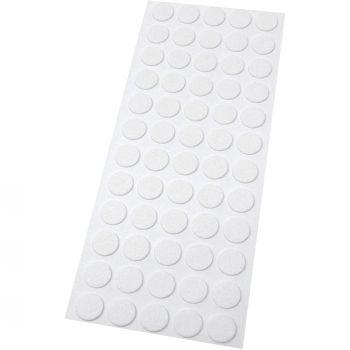 60 x Filzgleiter | Ø 14 mm | Weiß | rund | 1.5 mm dünne selbstklebende Filz-Möbelgleiter in Top-Qualität