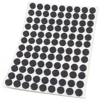 108 x Filzgleiter / Ø 10 mm / Schwarz / rund / 3.5 mm starke selbstklebende Filz-Möbelgleiter in Top-Qualität