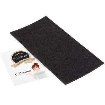 selbstklebende Filzplatte   100x200 mm   Schwarz   rechteckig   3.5 mm starker Filzzuschnitt in Top-Qualität von Adsamm®