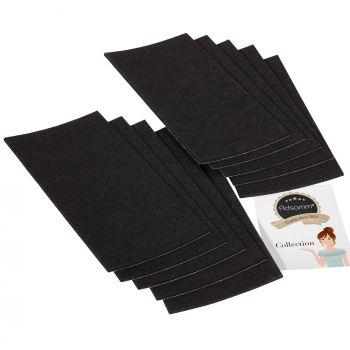 10 x selbstklebende Filzplatte   100x200 mm   Schwarz   rechteckig   3.5 mm starker Filzzuschnitt in Top-Qualität von Adsamm®