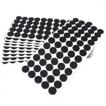 600 x Filzgleiter / Ø 20 mm / Schwarz / rund / 3.5 mm starke selbstklebende Filz-Möbelgleiter in Top-Qualität