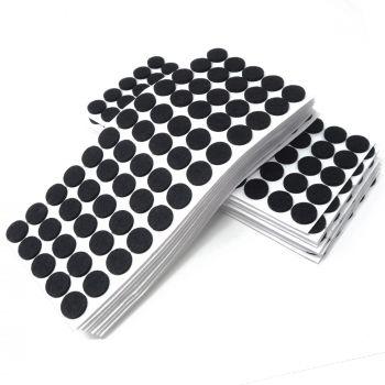 1200 x Filzgleiter / Ø 20 mm / Schwarz / rund / 3.5 mm starke selbstklebende Filz-Möbelgleiter in Top-Qualität