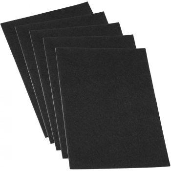 10 x selbstklebende Filzplatte | 200x300 mm | Schwarz | rechteckig | 3.5 mm starker Filzzuschnitt in Top-Qualität von Adsamm®