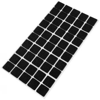 50 x Filzgleiter / 20x20 mm / Schwarz / quadratisch / 3.5 mm starke selbstklebende Filz-Möbelgleiter in Top-Qualität