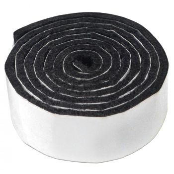 selbstklebendes Filzband zum Zuschneiden | 24x1000 mm | Schwarz | Rolle | 3.5 mm starker selbstklebender Filzzuschnitt in Top-Qualität