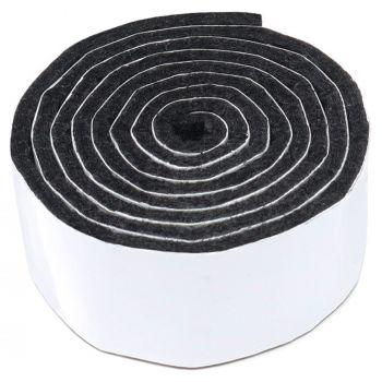 selbstklebendes Filzband zum Zuschneiden | 29x1000 mm | Schwarz | Rolle | 3.5 mm starker selbstklebender Filzzuschnitt in Top-Qualität
