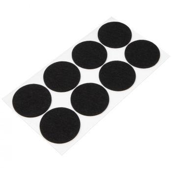 8 x Filzgleiter / Ø 60 mm / Schwarz / rund / 3.5 mm starke selbstklebende Filz-Möbelgleiter in Top-Qualität