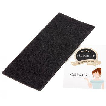 selbstklebende Filzplatte   80x180 mm   Schwarz   rechteckig   3.5 mm starker Filzzuschnitt in Top-Qualität von Adsamm®