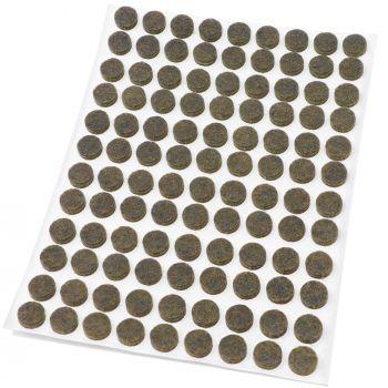 108 x Filzgleiter / Ø 10 mm / Braun / rund / 3.5 mm starke selbstklebende Filz-Möbelgleiter in Top-Qualität