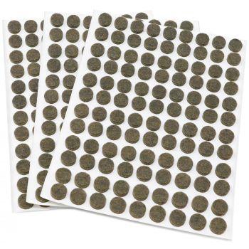 324 x Filzgleiter / Ø 10 mm / Braun / rund / 3.5 mm starke selbstklebende Filz-Möbelgleiter in Top-Qualität