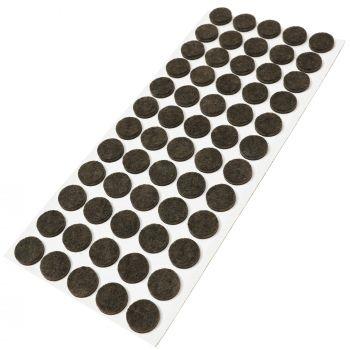 60 x Filzgleiter / Ø 14 mm / Braun / rund / 3.5 mm starke selbstklebende Filz-Möbelgleiter in Top-Qualität
