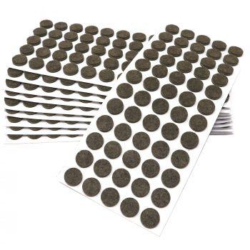 600 x Filzgleiter / Ø 14 mm / Braun / rund / 3.5 mm starke selbstklebende Filz-Möbelgleiter in Top-Qualität