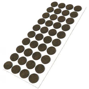 40 x Filzgleiter / Ø 18 mm / Braun / rund / 3.5 mm starke selbstklebende Filz-Möbelgleiter in Top-Qualität