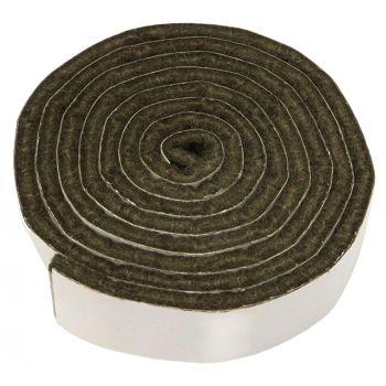selbstklebendes Filzband zum Zuschneiden | 19x1000 mm | Braun | Rolle | 3.5 mm starker selbstklebender Filzzuschnitt in Top-Qualität