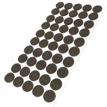 50 x Filzgleiter / Ø 20 mm / Braun / rund / 3.5 mm starke selbstklebende Filz-Möbelgleiter in Top-Qualität