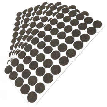 250 x Filzgleiter / Ø 20 mm / Braun / rund / 3.5 mm starke selbstklebende Filz-Möbelgleiter in Top-Qualität