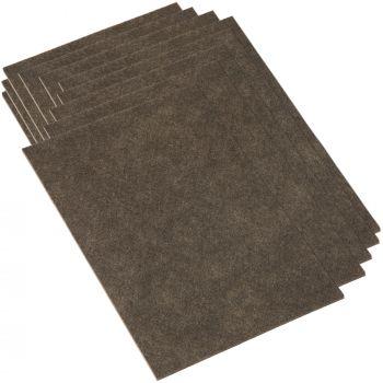 10 x selbstklebende Filzplatte | 200x300 mm | Braun | rechteckig | 3.5 mm starker Filzzuschnitt in Top-Qualität von Adsamm®