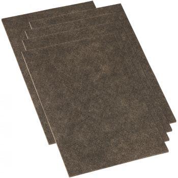 5 x selbstklebende Filzplatte | 200x300 mm | Braun | rechteckig | 3.5 mm starker Filzzuschnitt in Top-Qualität von Adsamm®
