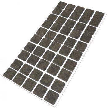 50 x Filzgleiter / 20x20 mm / Braun / rund / 3.5 mm starke selbstklebende Filz-Möbelgleiter in Top-Qualität