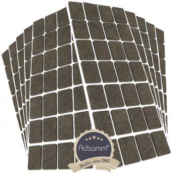 280 x Filzgleiter / 20x30 mm / Braun / rechteckig / 3.5 mm starke selbstklebende Filz-Möbelgleiter in Top-Qualität