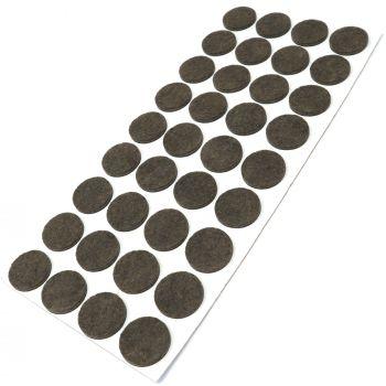 36 x Filzgleiter / Ø 24 mm / Braun / rund / 3.5 mm starke selbstklebende Filz-Möbelgleiter in Top-Qualität