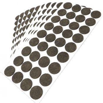 360 x Filzgleiter / Ø 24 mm / Braun / rund / 3.5 mm starke selbstklebende Filz-Möbelgleiter in Top-Qualität