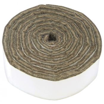 selbstklebendes Filzband zum Zuschneiden | 24x1000 mm | Braun | Rolle | 3.5 mm starker selbstklebender Filzzuschnitt in Top-Qualität