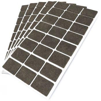 120 x Filzgleiter / 25x35 mm / Braun / rechteckig / 3.5 mm starke selbstklebende Filz-Möbelgleiter in Top-Qualität