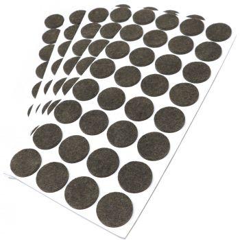 160 x Filzgleiter / Ø 26 mm / Braun / rund / 3.5 mm starke selbstklebende Filz-Möbelgleiter in Top-Qualität