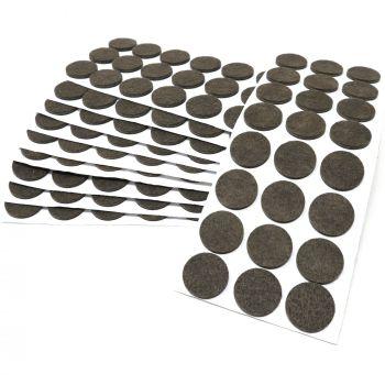 240 x Filzgleiter / Ø 28 mm / Braun / rund / 3.5 mm starke selbstklebende Filz-Möbelgleiter in Top-Qualität