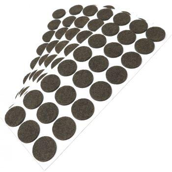 120 x Filzgleiter / Ø 28 mm / Braun / rund / 3.5 mm starke selbstklebende Filz-Möbelgleiter in Top-Qualität