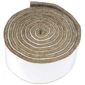 selbstklebendes Filzband zum Zuschneiden | 29x1000 mm | Braun | Rolle | 3.5 mm starker selbstklebender Filzzuschnitt in Top-Qualität