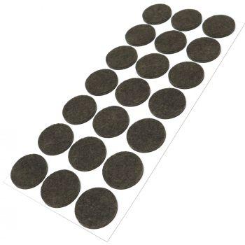 21 x Filzgleiter / Ø 30 mm / Braun / rund / 3.5 mm starke selbstklebende Filz-Möbelgleiter in Top-Qualität