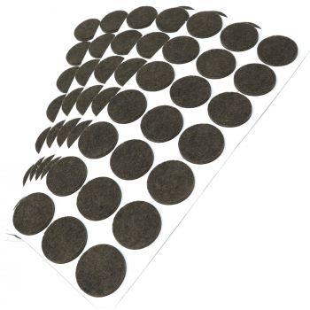 105 x Filzgleiter / Ø 30 mm / Braun / rund / 3.5 mm starke selbstklebende Filz-Möbelgleiter in Top-Qualität