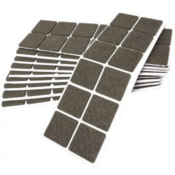 120 x Filzgleiter / 35x35 mm / Braun / quadratisch / 3.5 mm starke selbstklebende Filz-Möbelgleiter in Top-Qualität