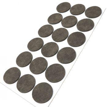 18 x Filzgleiter / Ø 36 mm / Braun / rund / 3.5 mm starke selbstklebende Filz-Möbelgleiter in Top-Qualität