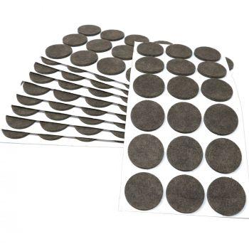 180 x Filzgleiter / Ø 36 mm / Braun / rund / 3.5 mm starke selbstklebende Filz-Möbelgleiter in Top-Qualität
