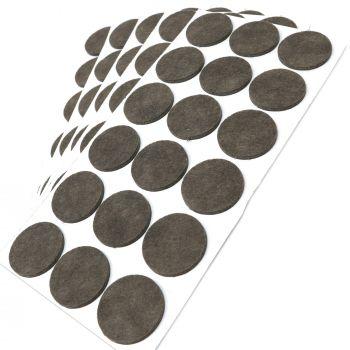 90 x Filzgleiter / Ø 36 mm / Braun / rund / 3.5 mm starke selbstklebende Filz-Möbelgleiter in Top-Qualität