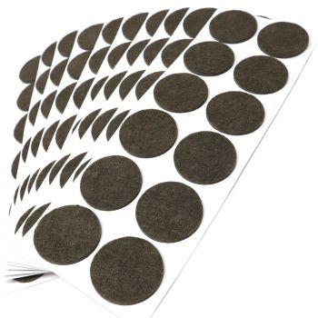 120 x Filzgleiter / Ø 40 mm / Braun / rund / 3.5 mm starke selbstklebende Filz-Möbelgleiter in Top-Qualität