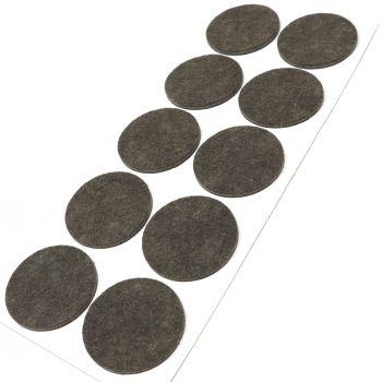 10 x Filzgleiter / Ø 45 mm / Braun / rund / 3.5 mm starke selbstklebende Filz-Möbelgleiter in Top-Qualität