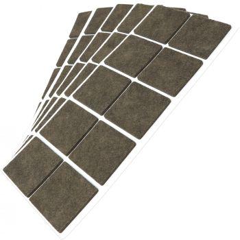 50 x Filzgleiter / 45x45 mm / Braun / quadratisch / 3.5 mm starke selbstklebende Filz-Möbelgleiter in Top-Qualität