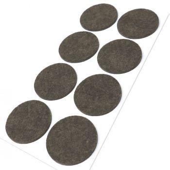 8 x Filzgleiter / Ø 50 mm / Braun / rund / 3.5 mm starke selbstklebende Filz-Möbelgleiter in Top-Qualität