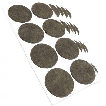 40 x Filzgleiter / Ø 50 mm / Braun / rund / 3.5 mm starke selbstklebende Filz-Möbelgleiter in Top-Qualität