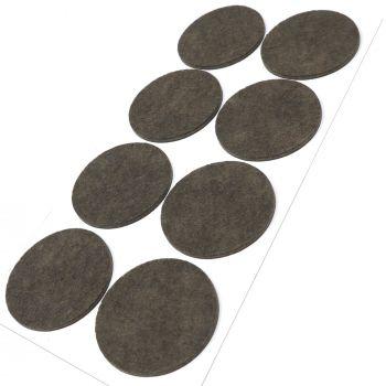 8 x Filzgleiter / Ø 60 mm / Braun / rund / 3.5 mm starke selbstklebende Filz-Möbelgleiter in Top-Qualität