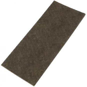 selbstklebende Filzplatte   80x180 mm   Braun   rechteckig   3.5 mm starker Filzzuschnitt in Top-Qualität von Adsamm®