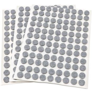 324 x Filzgleiter / Ø 10 mm / Grau / rund / 3.5 mm starke selbstklebende Filz-Möbelgleiter in Top-Qualität