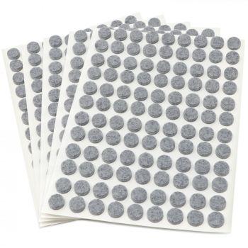 540 x Filzgleiter / Ø 10 mm / Grau / rund / 3.5 mm starke selbstklebende Filz-Möbelgleiter in Top-Qualität